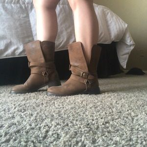 Slouchy Moto boots
